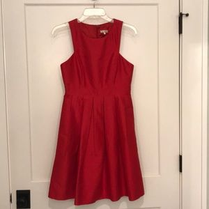 Red Shoshanna Dress With Pockets